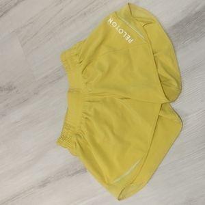 Yellow Lululemon-Peloton Shorts - Size 4